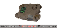 PEQ-15 Battery Case + Green Laser - Dark Earth Battery Accessories- ModernAirsoft.com