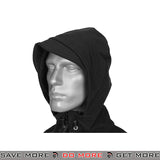 Lancer Tactical Hooded Soft Shell Jacket CA-783BL - Black, Large Jackets / Sweaters / Hoodies- ModernAirsoft.com