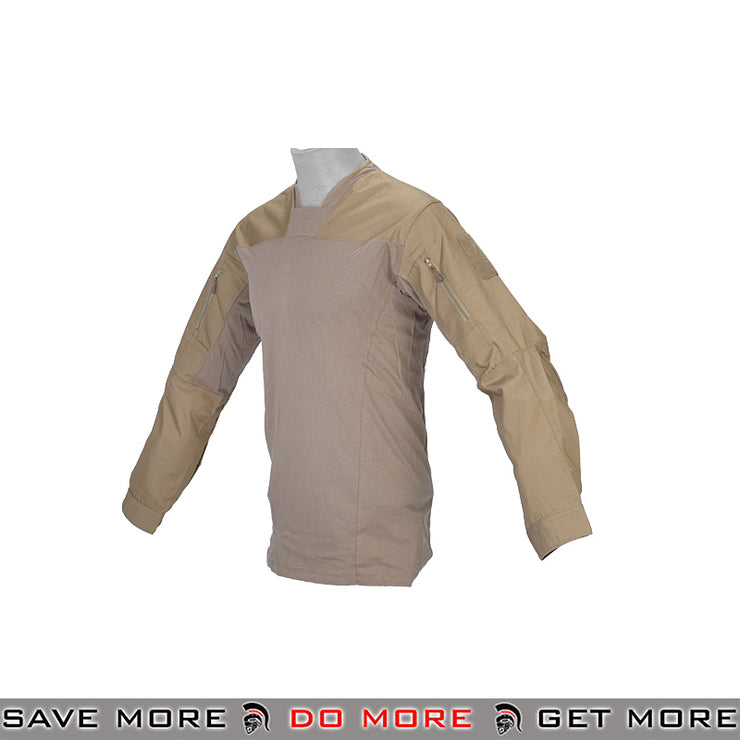 Lancer Tactical TLS Halfshell Combat Shirt CA-795SM - Small, Tan Shirts- ModernAirsoft.com