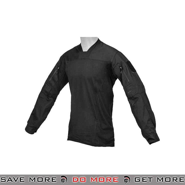 Lancer Tactical TLS Halfshell Combat Shirt CA-796XL - Extra Large, Black Shirts- ModernAirsoft.com