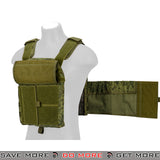 Lancer Tactical MOLLE AK Plate Carrier w/ Pouches - Digital Flora plate carrier- ModernAirsoft.com