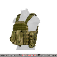 Lancer Tactical MOLLE AK Plate Carrier w/ Pouches - Foliage Camo plate carrier- ModernAirsoft.com