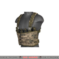 Lancer Tactical Lightweight Chest Rig w/ Concealed Magazine Pouch CA-882F - ATACS Foliage Green Chest Rigs & Harnesses- ModernAirsoft.com