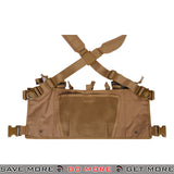 Lancer Tactical Lightweight Chest Rig w/ Concealed Magazine Pouch CA-882K - Khaki Chest Rigs & Harnesses- ModernAirsoft.com