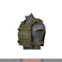 Lancer Tactical Lightweight Plate Carrier CA-883P - OD Green plate carrier- ModernAirsoft.com