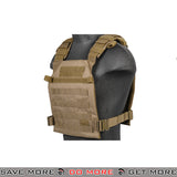 Lancer Tactical Lightweight Plate Carrier CA-883T - Tan plate carrier- ModernAirsoft.com