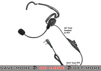 Code Red Headsets Close Quarters Boom Headset w/ PTT - Kenwood 2-Pin Head - Headsets- ModernAirsoft.com