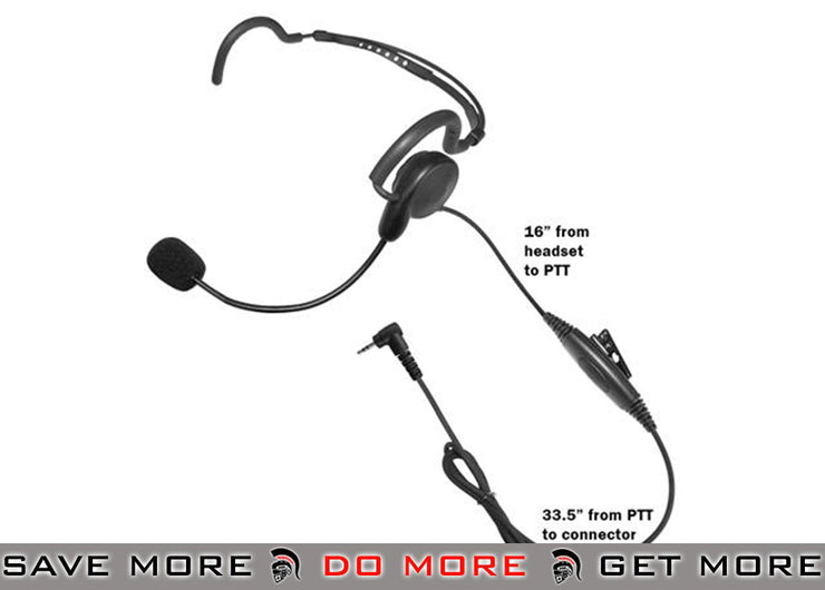 Code Red Headsets Close Quarters Boom Headset w/ PTT - Motorola 1 Pin Head - Headsets- ModernAirsoft.com