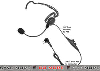 Code Red Headsets Close Quarters Boom Headset w/ PTT - Motorola 2 Pin Head - Headsets- ModernAirsoft.com