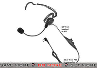 Code Red Headsets Close Quarters Boom Headset w/ PTT - Midland 2-Way & Maxon Head - Headsets- ModernAirsoft.com