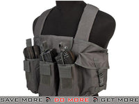 NcStar Tactical Vest 6 Pouch AK Chest Rig  (Urban Grey)