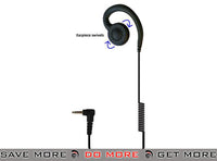 Code Red Headsets CrewJr 3.5mm Swivel Type Listen-Only Earpiece Head - Headsets- ModernAirsoft.com