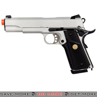 Double Bell 1911 MEU Gas Blowback Airsoft Pistol [Silver]