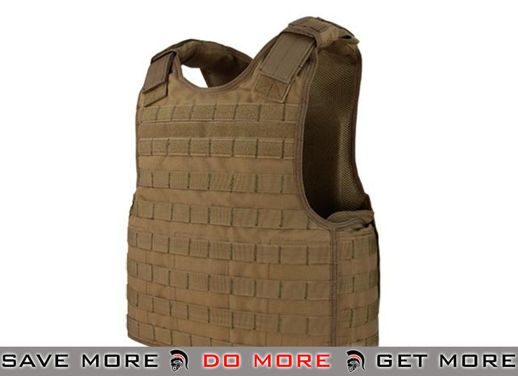 Condor Coyote Brown Defender Plate Carrier Tan / Desert- ModernAirsoft.com