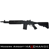 z MaxChange Open Box/Refurbished CYMA FULL METAL M14 RIS EBR AIRSOFT AEG SNIPER RIFLE (BLACK)