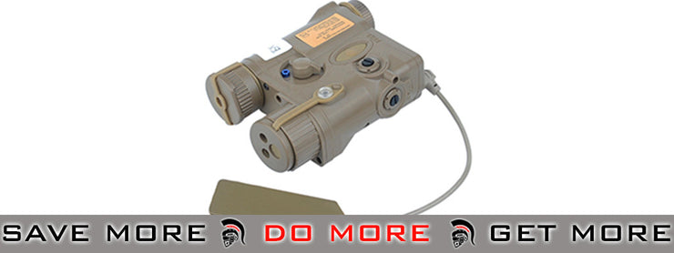 Element AN / PEQ-16A Style Airsoft Visible LED & IR Illuminator & Laser Combo (Dark Earth) flashlight- ModernAirsoft.com