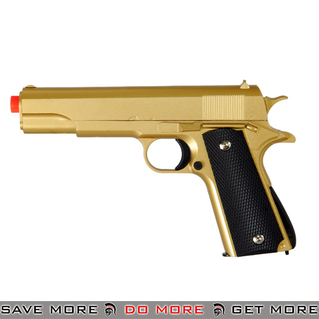 UKARMS G13G M1911 Heavy Weight Metal Replica Spring Pistol - Gold Air Spring Pistols- ModernAirsoft.com