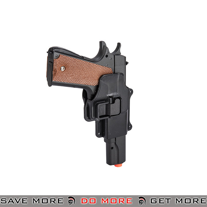 M1911 Metal Replica Spring Pistol Hard W Shell Holster