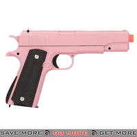 UKARMS G13P M1911 Heavy Weight Metal Replica Spring Pistol - Pink Air Spring Pistols- ModernAirsoft.com
