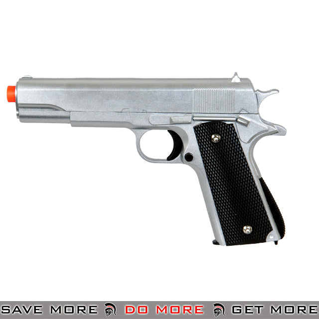 UKARMS G13S M1911 Heavy Weight Metal Replica Spring Pistol - Silver Air Spring Pistols- ModernAirsoft.com