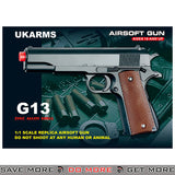 UKARMS G13T M1911 Heavy Weight Metal Replica Spring Pistol - Dark Earth Air Spring Pistols- ModernAirsoft.com