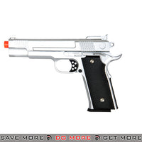 "UKARMS G20S 9"" 1911 Heavy Weight Metal Replica Spring Pistol - Silver Air Spring Pistols- ModernAirsoft.com"