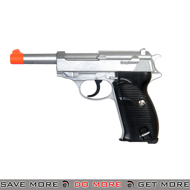 UKARMS G21S P38 Heavy Weight Metal Replica Spring Pistol - Silver Air Spring Pistols- ModernAirsoft.com