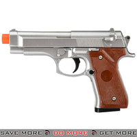 UKARMS G22MS M92 Heavy Weight Metal Replica Spring Pistol - Silver Air Spring Pistols- ModernAirsoft.com