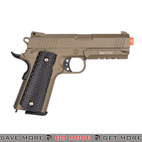 Galaxy G25A Hi Capa Heavy Weight Metal Replica Spring Pistol - Dark Earth Air Spring Pistols- ModernAirsoft.com