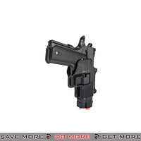 Galaxy G25H Hi Capa Heavy Weight Metal Replica Spring Pistol w/ Hard Shell Holster - Black Air Spring Pistols- ModernAirsoft.com