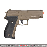 Galaxy G26D P226 Heavy Weight Metal Replica Spring Pistol - Dark Earth Air Spring Pistols- ModernAirsoft.com