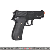 Galaxy G26H P226 Heavy Weight Metal Replica Spring Pistol w/ Hard Shell Holster - Black Air Spring Pistols- ModernAirsoft.com