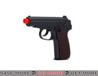 UKARMS G29W Makarov Heavy Weight Metal Replica Spring Pistol - Black / Faux Wood Air Spring Pistols- ModernAirsoft.com