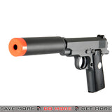 UKARMS G2A Commander Heavy Weight Metal Replica Spring Pistol w/ Suppressor - Black Air Spring Pistols- ModernAirsoft.com
