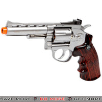 "Pre-Order ETA May 2020 - G&G G732 CO2 Full Metal 4"" High Power Airsoft 6mm Magnum Gas Revolver - Silver"