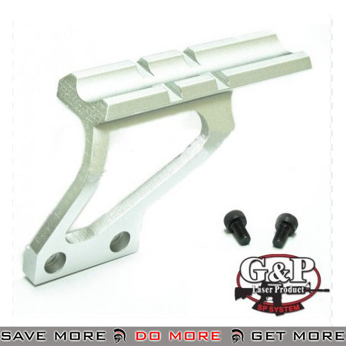 G&P Scope Mount Base for Hi-Capa Series Airsoft GBB Pistol MNT-GP719B - Silver Scope Mount Base- ModernAirsoft.com