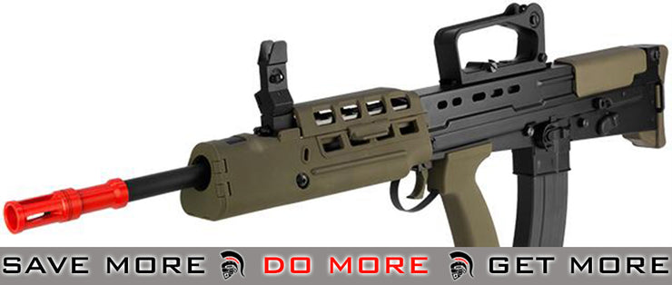 WE L85 Bullpup Full Metal Airsoft Gas Blowback GBB Rifle - Black L85 / SA80- ModernAirsoft.com