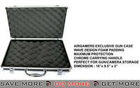 "HFC 16"" Chrome Real steel Grade Chrome Deluxe Pistol Hard Carrying Case Gun Cases- ModernAirsoft.com"