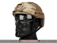 Emerson Bump  Helmet w/ Flip-down Retractable Visor (PJ Type / Arid Foliage) Head - Helmets- ModernAirsoft.com