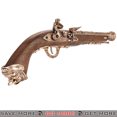 HFC Flintlock Co2 Airsoft Pirate Pistol Wood / Gold