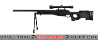 AGM Black Bolt Action Sniper Rifle w/ Scope & Bi-pod Bolt Action Sniper Rifle- ModernAirsoft.com