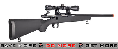 Black JG BAR-10 Bolt Action Sniper Rifle w/ 3-9X40 Scope Air Spring Rifles- ModernAirsoft.com