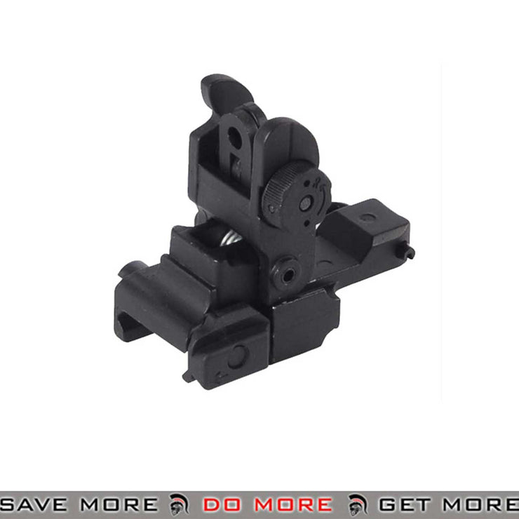 JGM Rear Flip Up Airsoft Iron Sight for 20mm Picatinny Accessory Rail - JGM-20