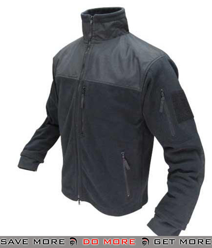 Condor Fleece Cold Weather Jacket (Black / Large) Jackets / Sweaters / Hoodies- ModernAirsoft.com