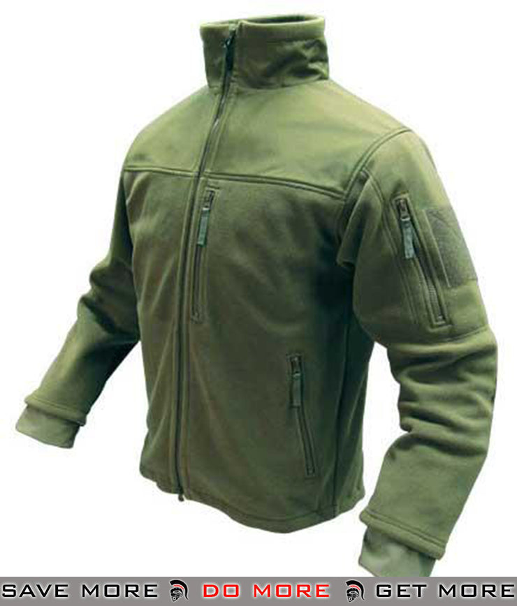 Condor Fleece Cold Weather Jacket (OD Green / Large) Jackets / Sweaters / Hoodies- ModernAirsoft.com