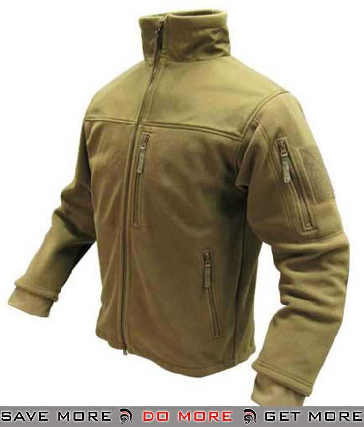 Condor Fleece Cold Weather Jacket (Tan / Large) Jackets / Sweaters / Hoodies- ModernAirsoft.com