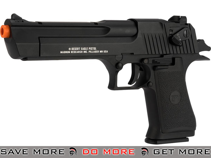 Magnum Research Licensed Semi/Full Auto Full Metal Desert Eagle CO2 Gas Blowback Airsoft Pistol: KWC (Black) CO2- ModernAirsoft.com