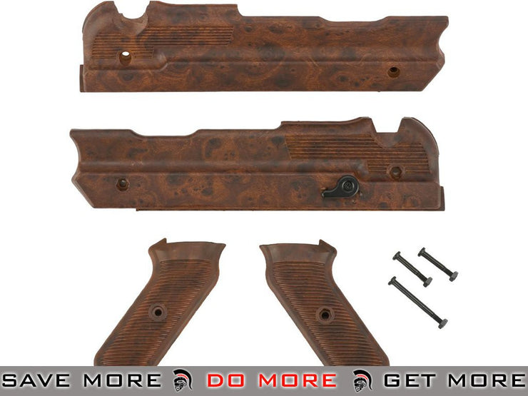 Imitation Bakelite Furniture for Matrix and AGM MP40 Machine Pistol AEGs Conversion Kits- ModernAirsoft.com