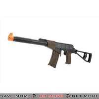 LCT Airsoft AS VAL Assault Rifle AEG w/ Integrated Suppressor and Folding Stock - Black Airsoft Electric Gun- ModernAirsoft.com