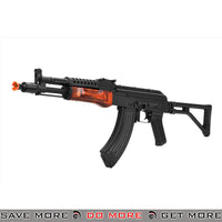 LCT G04 AK47 NV AEG Soviet Airsoft Replica w/ Real Wood Handguard - Black / Wood Airsoft Electric Gun- ModernAirsoft.com
